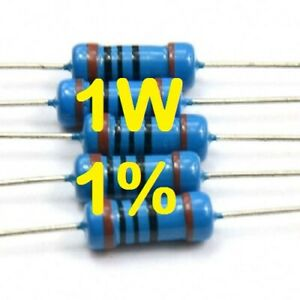 100 PEZZI RESISTENZE STRATO CARBONE 1W 1 WATT 5/% 680 ohm