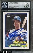Ken Griffey Jr Signed 1989 Topps Traded #41T RC Rookie HOF Beckett BAS BGS AUTO