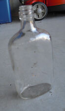 "Vintage Glass Liquor Bottle One Pint D-126 Marked 8 1/4"" Tall"