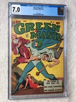 Green Mask #11 CGC 7.0 Fox Features Nov 1944 Golden Age off-white to white pages
