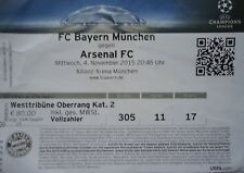 Ticket-UCL 2015/16 Bayern München vs Arsenal FC