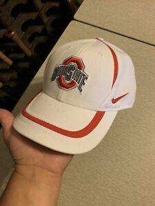 Nike Ohio State University Buckeyes OSU White/Red Adjustable Strapback Hat Cap