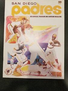 1974 SAN DIEGO PADRES VS PHILADELPHIA PHILLIES PROGRAM-UNSCORED