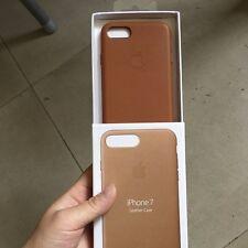 "SADDLE BROWN GENUINE Apple Leather Case Lederhülle fur iPhone 7 4.7"""