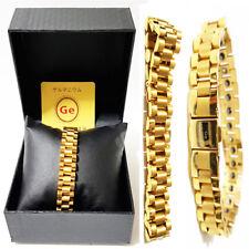 Health Jewelry Fashion sports rolex power man Jp Germanium chain Bracelet Gold