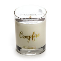 Luna Candle Co. Pine Balsam and Amber Scented Premium Soy Wax Candle- Campfire