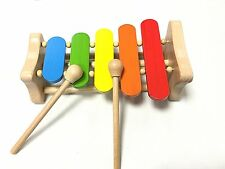 Childrens Kids Colourful Xylophone Wooden Musical Instrument Toy New Boxed