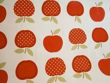 WACHSTUCH ,Tischdecke,Meterware,0,5 m x1,40 m,rote Äpfel,rot,grün,weiß