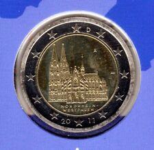 Deutschland  2 Euromünze Kölner Dom-A -2011 In PP Bankfrisch