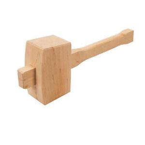 Wooden Mallet Hammer 115 mm 4 1/2'' Inch Wood Polished Hardwood Shaft Head DIY