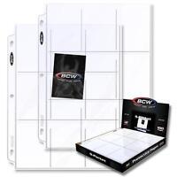 20 loose BCW 9 Pocket Album Pages Card Storage Holders Sheets Polypropylene