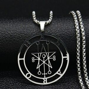 Astaroth Duke of Hell Sigil Demon Stainless Steel Gothic Occult Pendant Necklace