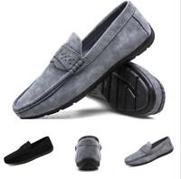 Mens Driving Moccasins Shoes Pumps Slip on Loafers Breathable Soft Comfy Flats B