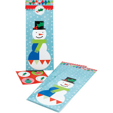 The Gift Wrap Company Treat Sleeves With Seals Geo Snowman (3877-23)