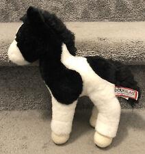 "Douglas The Cuddle Toy Plush Stuffed Animal 10"" Black And White Horse"