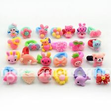 50PCS Assorted Cartoon Theme Resin Hair Band Accessories For Girls Babies 1 Set