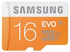 Samsung 16GB EVO 48MB/s MicroSD SDHC UHS-I Class 10 Memory Card Bulk