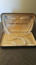 Vintage Fresh Pearl Necklace and bracelet in 18k authentic gold clasp.