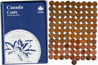 1920~2012 CANADA 100 x 1¢ Pennies in Unisafe Album -No Duplicates Many Varieties