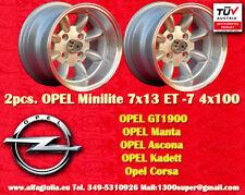 2  Cerchi OPEL VW Minilite 7x13 ET-7 4x100 Wheels Felgen Llantas Jantes