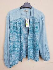 BNWT LADIES M & S INDIGO COLLECTION BLUE TOP / BLOUSE SIZE 12 £35 TAG