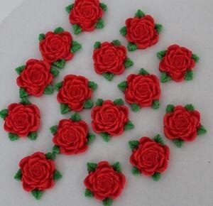 Zuckerdekor --Rosen 5 Stück----Fondant--Geburtstag---Torten---Party