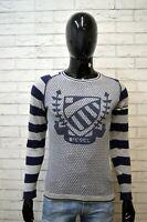 Maglione Grigio Uomo DIESEL Taglia S Pullover Sweater Man Cardigan Cotone Slim