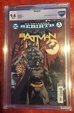 Batman #1 Rebirth David Finch Regular Cover CBCS 9.8 NM/M First Gotham Girl