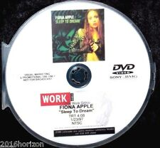 FIONA APPLE Sleep To Dream Promotional Record Company Music Video DVD (NOT A CD)