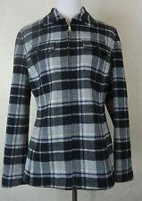 Karierte Damenjacken & -mäntel aus Wolle mit Reißverschluss für die Freizeit