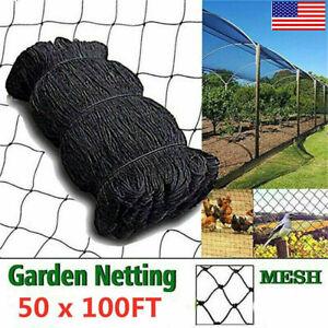 """Anti Bird Netting 50X100 Bird Poultry Fish Aviary Game Multi-Net 2"""" Mesh Nylon"""
