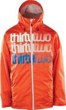 THIRTYTWO Men's SHAKEDOWN Insulated Jacket - Orange - Small - NWT