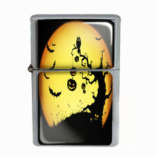 Wind Proof Dual Torch Refillable Lighter Halloween Design-003