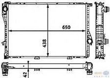 BMW E39 M5 4.9 E38 750i  Z8 RADIATOR OEM BEHR NEW 17111436062