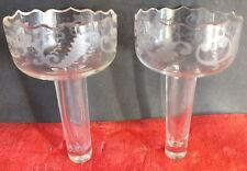 vases bouquetières cristal taillé années 30