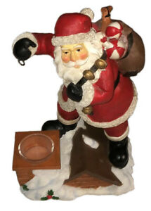 Yankee Candle Santa On Roof Mini Candle Tart Warmer Burner Christmas Holiday