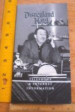 Disneyland Hotel Telephone & Internet Information pamphlet 2000's Walt pictured