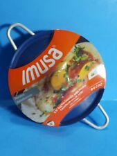 """New Sealed Imusa 5.5"""" Egg Pan Handles Lid Blue Non Stick"""