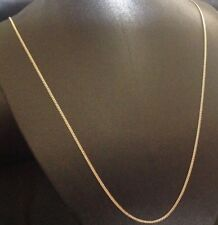 9CT YELLOW GOLD & SILVER 22 inch CURB CHAIN / NECKLACE - 3.3 grams - 1.3mm