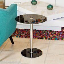 Podio Cristal Redondo Contemporáneo Mesilla - Blanco, Negro, Gris y Transparente