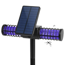 Solarmks Solar Bug Zapper Outdoor Mosquito Killer Lamp with 4 LED UV Bulbs