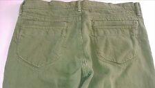 Old Navy Capri Jeans Womens SZ 12 Green 36 x 16 Actual Lowest Rise Cotton Pants