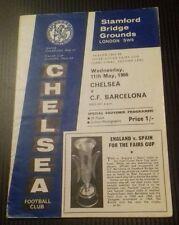 Chelsea v Barcelona Fairs Cup Semi Final 2nd Leg Programme 11/05/66