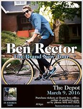 "BEN RECTOR ""BRAND NEW TOUR"" 2016 SALT LAKE CITY CONCERT POSTER - Pop Rock Music"