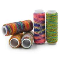 1x Sewing thread Rainbow polyster coils hand sewing embroidery thread for sewing