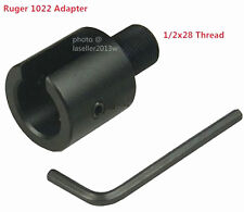 Aluminum 1022 10-22 Muzzle Brake Adapter 1/2x28 Thread, Three Lock Nut