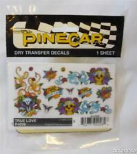 Pinecar Dry Transfer Decals True Love P4026 for Pine Wood Derby Cars by Pinecar