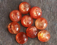 3MM TO 8MM NATURAL BROWN SUNSTONE ROUND SHAPE CABOCHON LOOSE GEMSTONE
