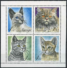 Cats Swedish Stamps