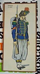 Ancien Tableau représentant un soldat Chasseur à Pied Grande Guerre 1914 à 1918